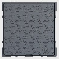 Hydraulic pavement access cover with square frame H.C