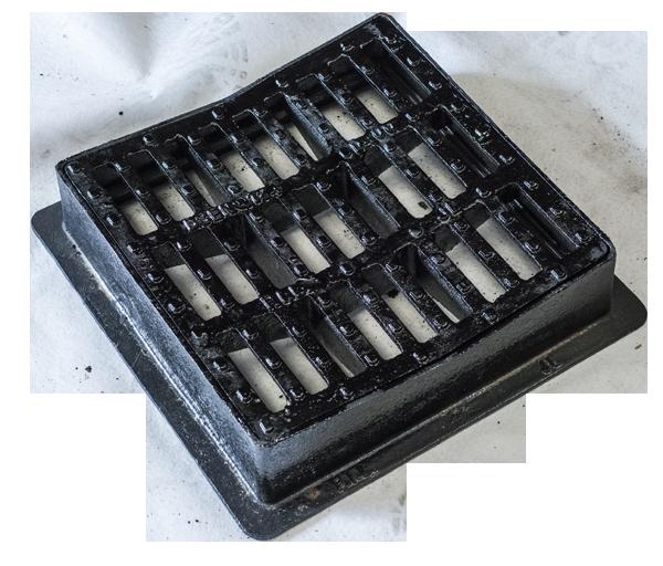 P i l produits industriels lorrains grille carr e concave avec - Regard avec grille fonte ...