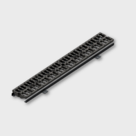 Flat rectangular gully grating without frame C.C