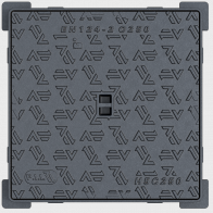 Hydraulic access cover with square frame H.C250