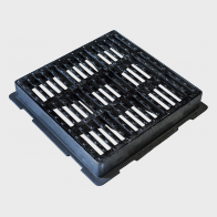 Square flat gully grating with frame GP.HP